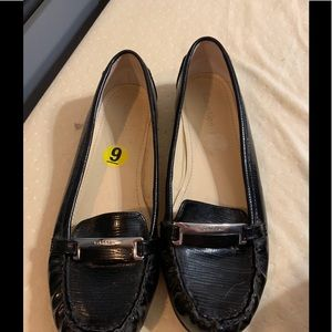 Calvin Klein Black Loafers Driving Shoes Size 9